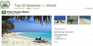 Paraíso en Cayo Largo de Cuba repite entre mejores playas del mundo (TripAdvisor)